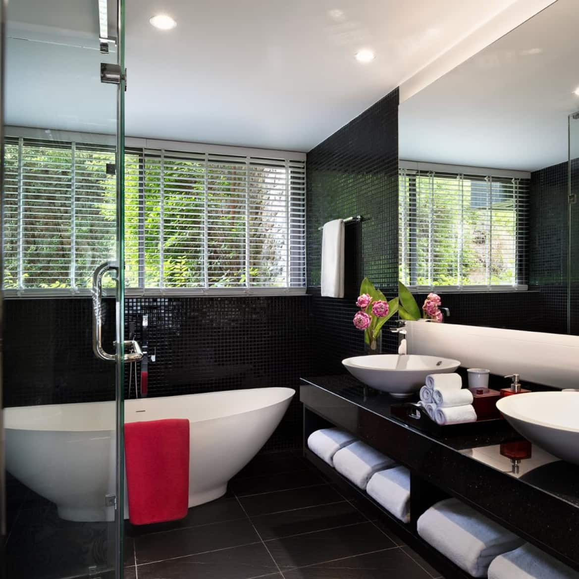 Hill View Suite Bathroom - The Pavilions Phuket