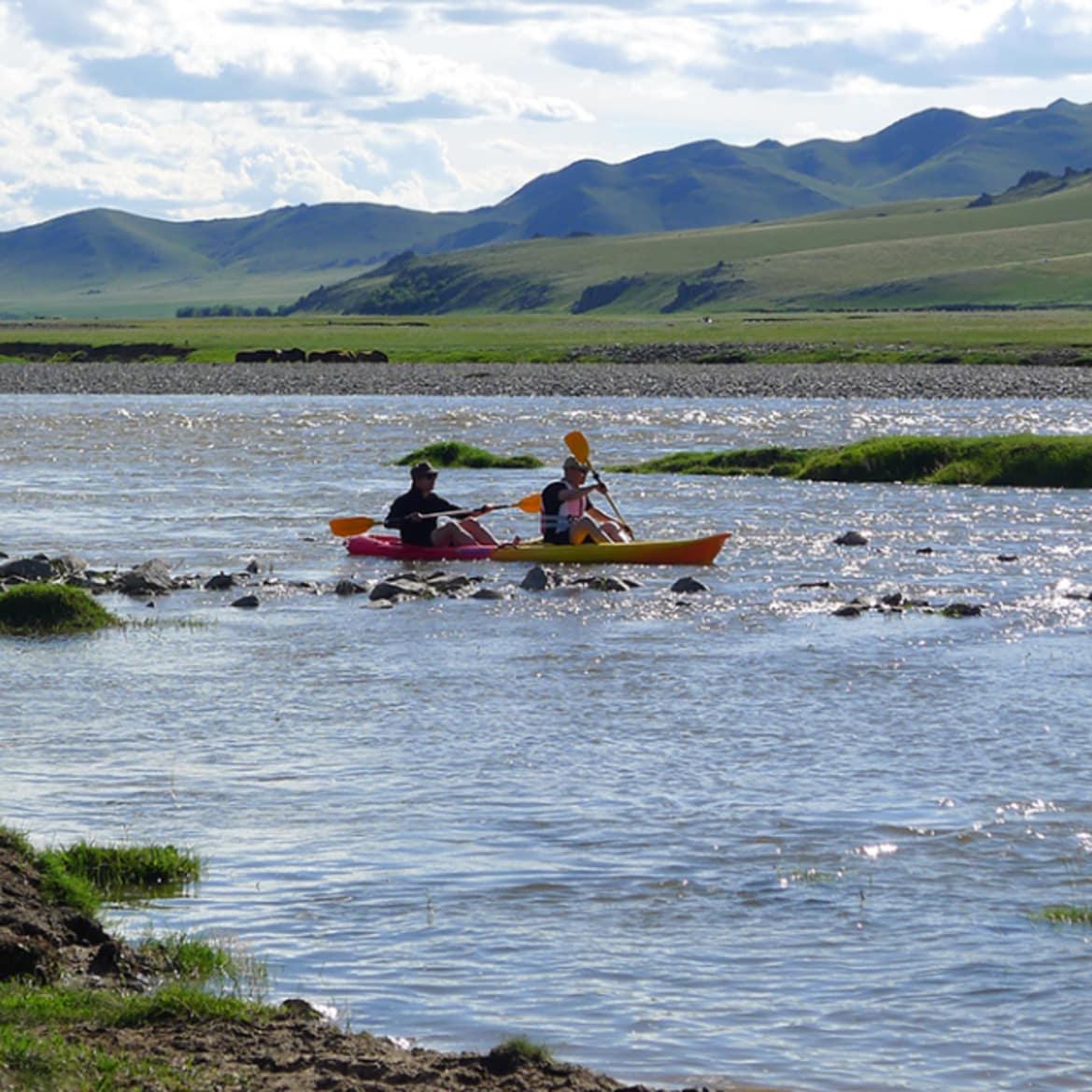 Kayaking On Orkhon River  - The Pavilions Mongolia