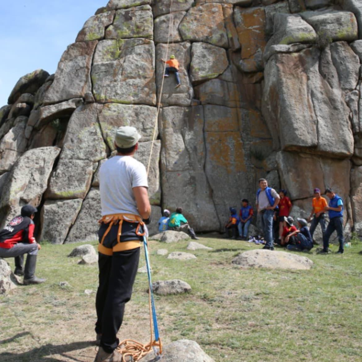 Rock Climbing - The Pavilions Mongolia
