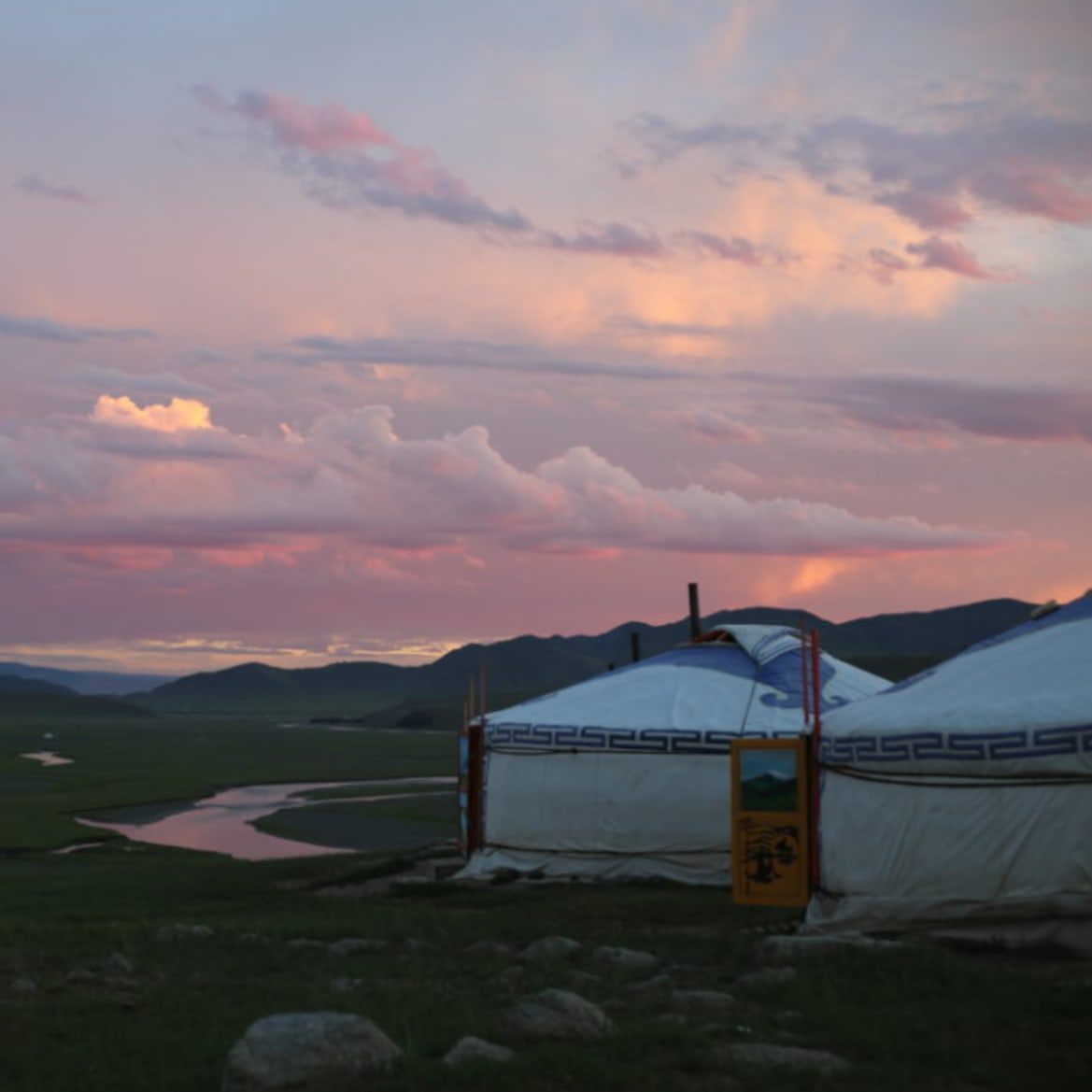 Sunset Over Camp - The Pavilions Mongolia