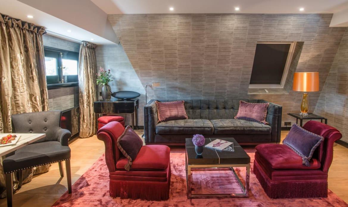 Living room top floor Executive Suite