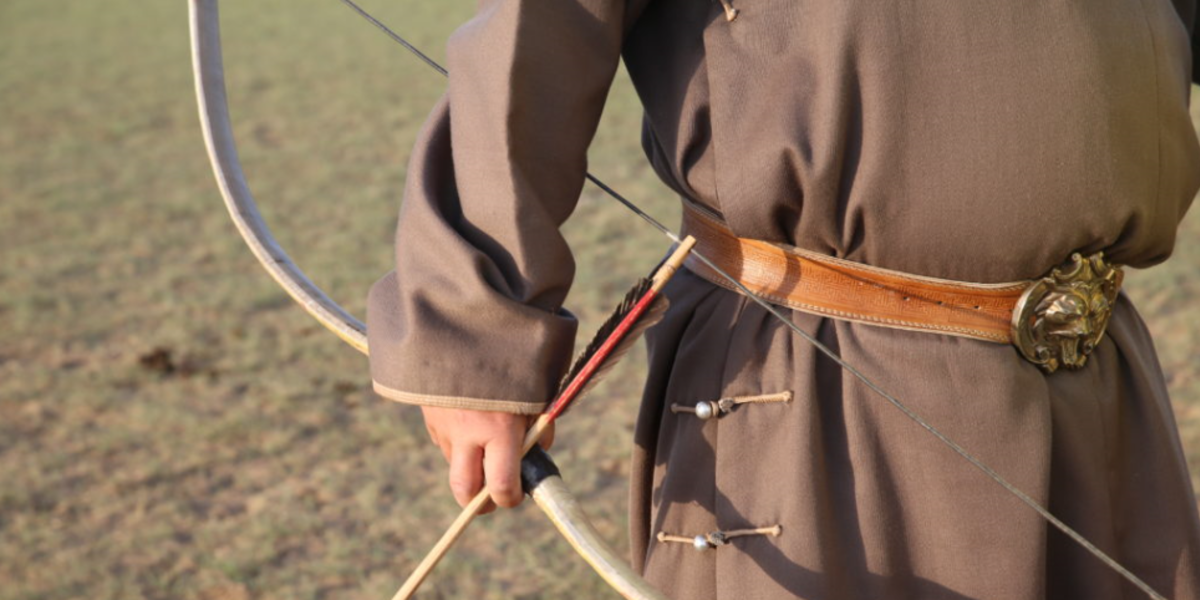 Traditional Mongolian Bow and Arrow - The Pavilions Mongolia
