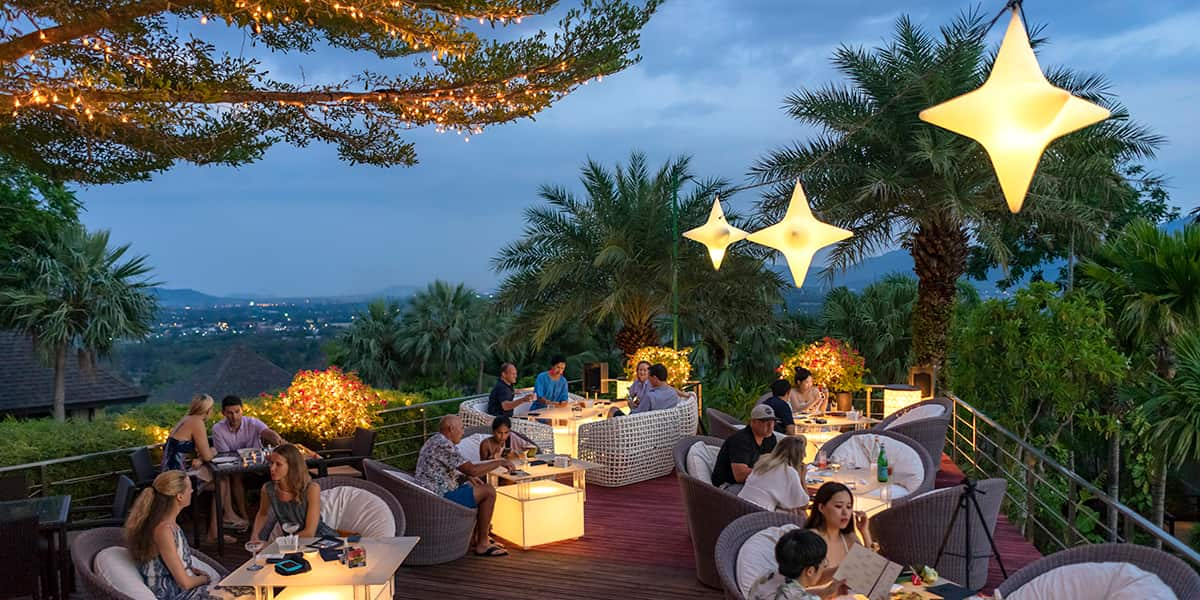 Relaxing at 360 bar - The Pavilions Phuket