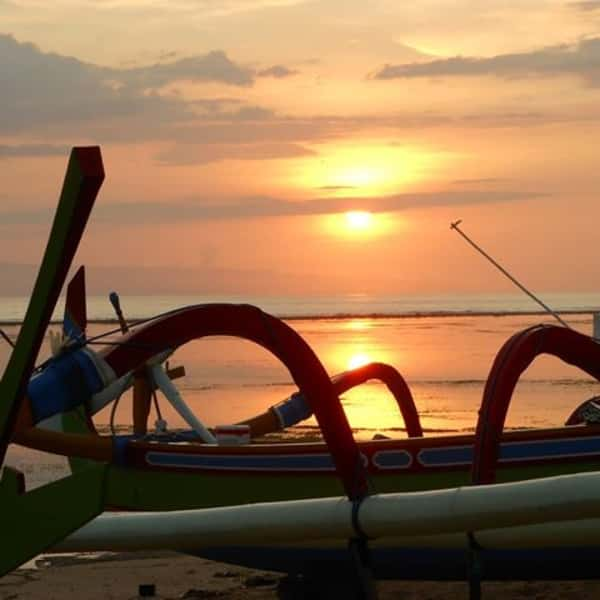 Sunset on Sanur Beach
