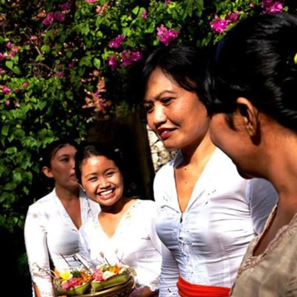 The traditional Balinese hospitality