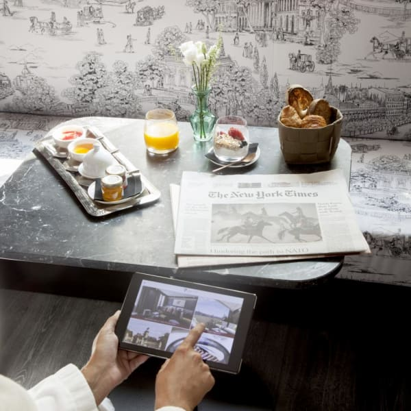 In-room tablet