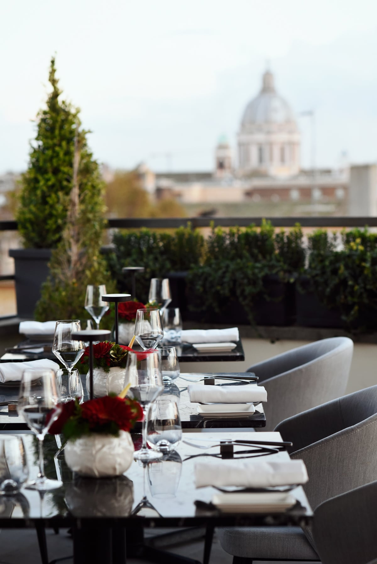 the first roma arte restaurant rooftop